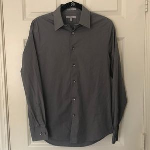 Gray Express Button Up Shirt